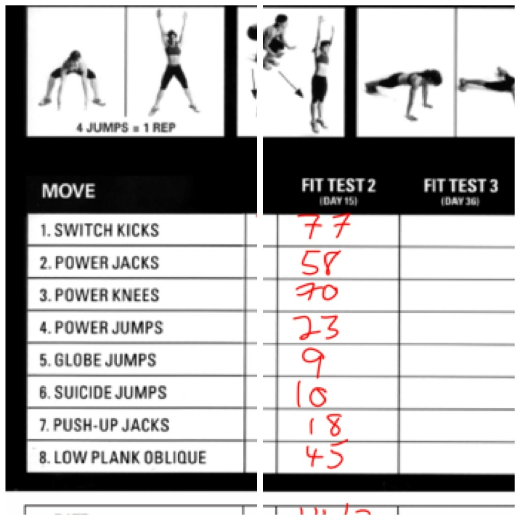 Insanity fit test 2 day 15